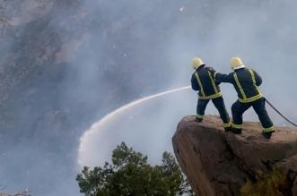 """فيديوهات ترصدها """"المواطن"""" من الميدان .. استنفار لإخماد حريق جبل غلامة في تنومة - المواطن"""