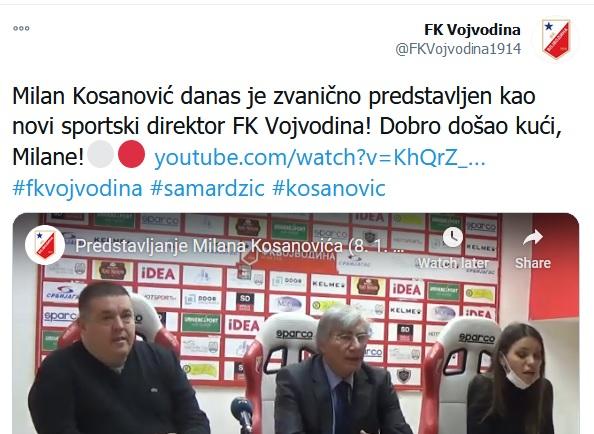 مساعد مدرب النادي الأهلي ميلان كوسانوفيتش
