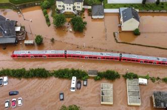 الفيضانات في ألمانيا تفتك بشبكة السكك الحديد