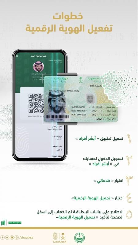 4 خطوات لتفعيل الهوية الرقمية عبر الجوال - المواطن