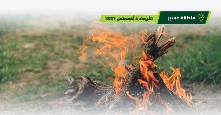 توقيف 20 مخالفًا أشعلوا النار في منتزه الملك عبدالعزيز الوطني بالسودة