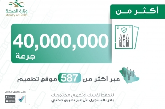 إعطاء أكثر من 40 مليون جرعة من لقاح كورونا في السعودية - المواطن