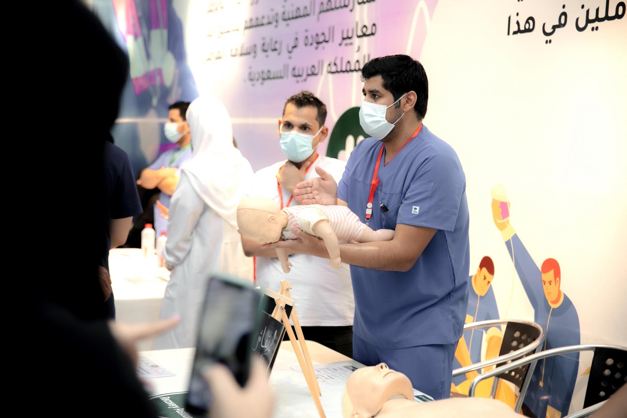 50 متطوع ومتطوعة يشاركون في فعالية اليوم العالمي للإسعافات الأولية بحفر الباطن